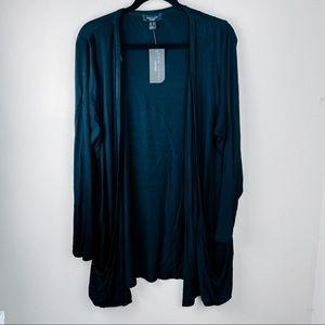 New Look Black Jersey Open Cardigan Pockets
